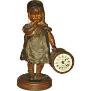 "Ansonia Novelty 254 "" Good Night"" Clock"
