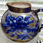 Rare And Beautiful Royal Doulton Vase Cobalt Circa 1878