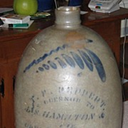 Antique T.F.  Reppert 2 Gallon Jug