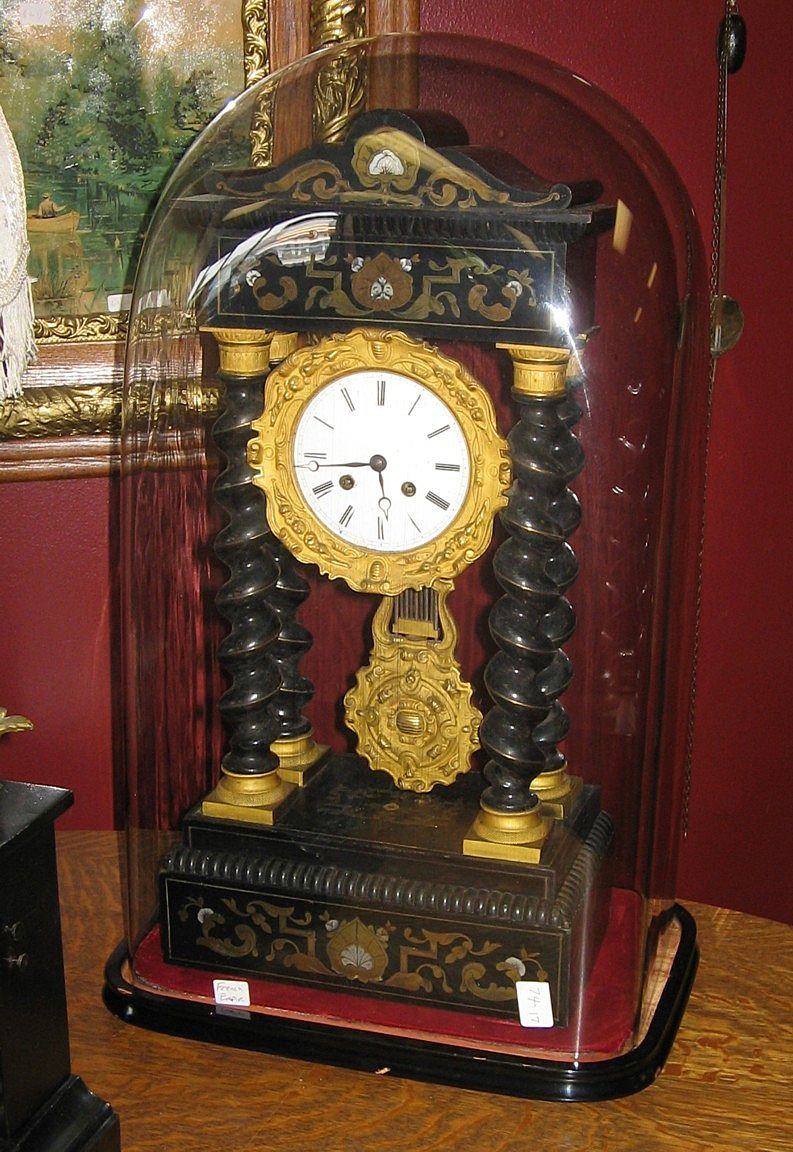 French Empire Clock Under Glass Dome From Cathysclocks On