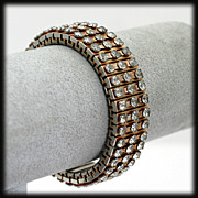 1950s Rhinestone Expansion Stretch Bracelet