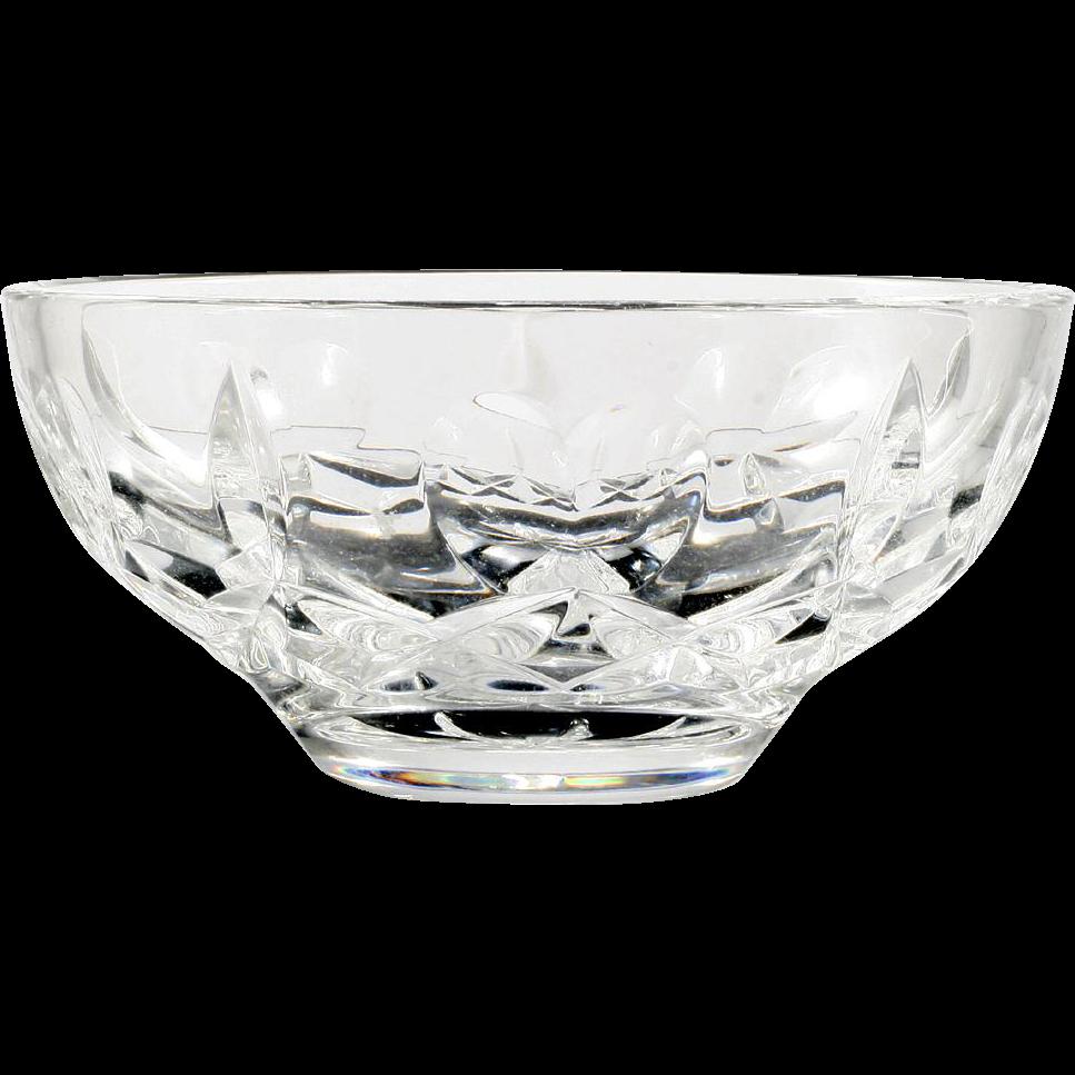 Waterford Crystal Bowl Love and Kisses Hand Cut Irish Crystal Hearts
