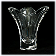 Maasricht Royal Leerdam Crystal Vase Vintage Art Glass from Holland