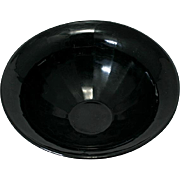 Vintage Black Elegant Glass Bowl Panel Optic