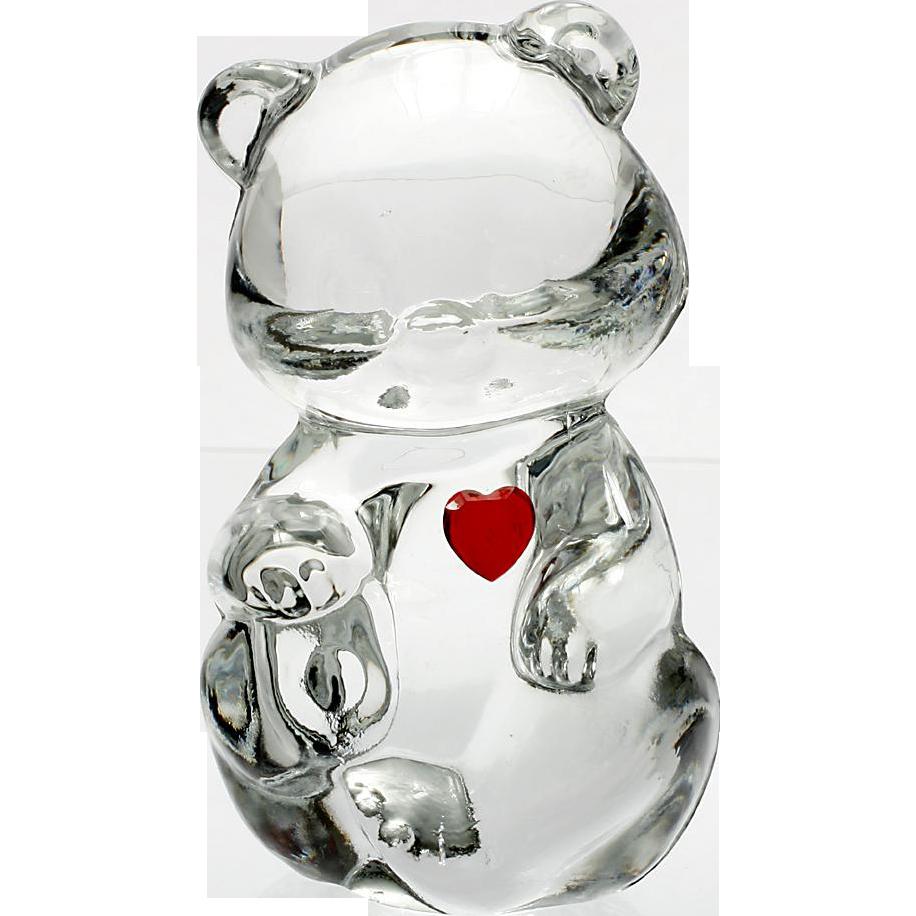 Fenton Glass Birthday Bear January Garnet Birthstone Figurine Art Glass