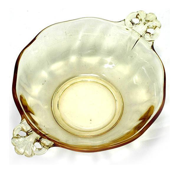 Fostoria Lafayette Topaz Bowl Vintage Elegant Glass Yellow