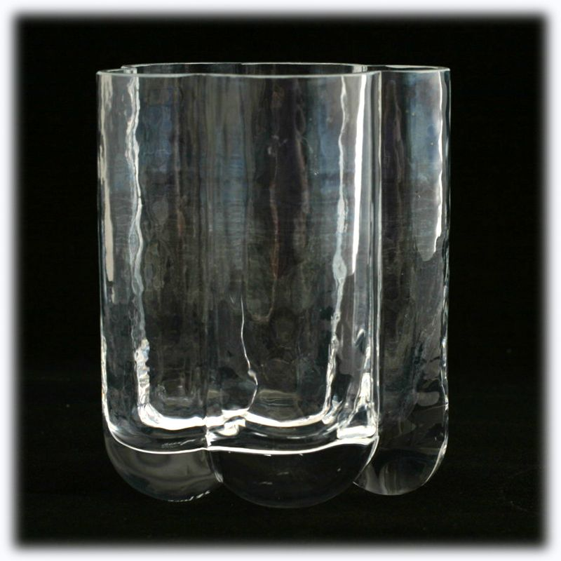 Seaglassbruk Scandinavian Art Glass Crystal Pauline Vase 1980s Signed