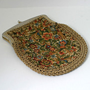 Italian Capwell's Tapestry Style Purse pink Flowers