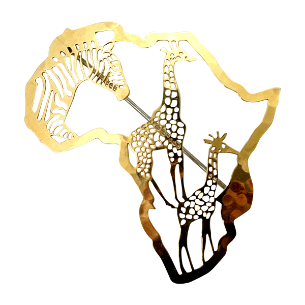 Wild Bryde African Safari Goldtone Pin