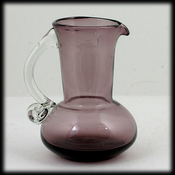 Amethyst Art Glass Cream Pitcher Hand Blown West Virgina Mid Century Modern