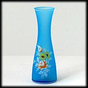 Westmoreland Glass Blue Mist Vase Flowers Roses Daisies Vintage