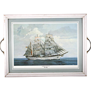Pimpernel Tray Tall Ship Gorch Fok II  Place Mat English Sailing Decor Maritime