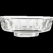 Orrefors Torup Art Glass Bowl Sven Palmqvist 1960s Mid Century Vintage Cut Crystal