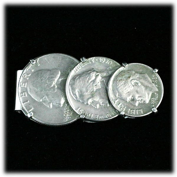 Liberty Coin Money Clip Quarter, Nickle, Dime
