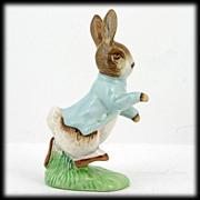 Royal Doulton Beswick Peter Rabbit Porcelain Figurine English Art