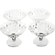 Fostoria American Sherbet Dessert Glasses Vintage Elegant Glass Set 4 Crystal
