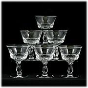 Fostoria Century Elegant Glass Liquor Cocktail Glasses Set 6 Vintage Crystal