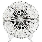 Hawkes Canton American Brilliant Cut Glass Dish Nappy Signed Antique