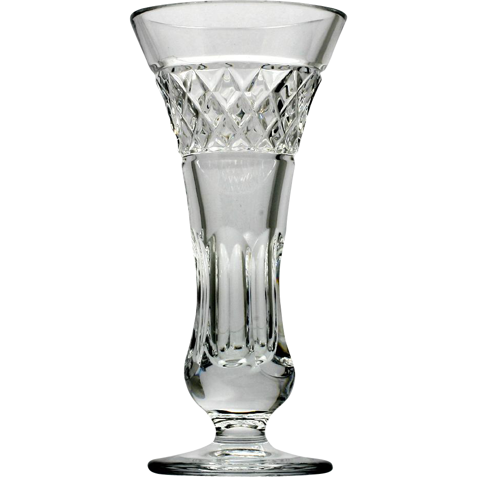 Thomas James Crystal Vase Mary Elizabeth Cut Glass Panels and Diamonds