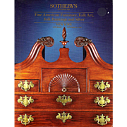 Sotheby's Auction Catalog Furniture Folk Art Paintings and Silver Oct 1990