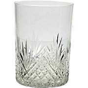 American Brilliant Cut Glass Tumbler Strawberry Diamond Antique Crystal 1890s