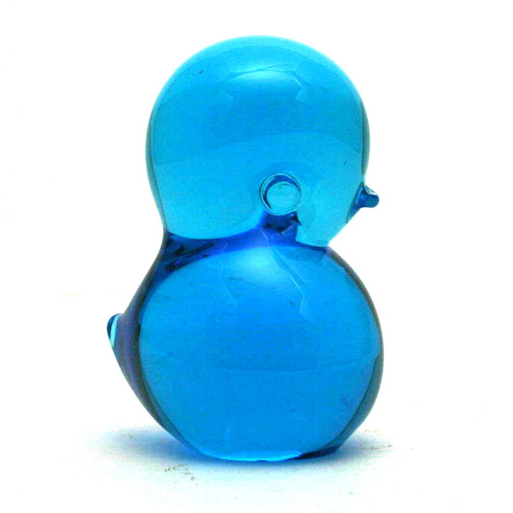 FM Konstglass Ronneby Blue Bird Figurine Paperweight Scandinavian Art Glass