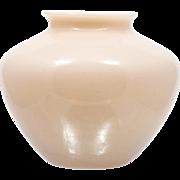 Cambridge Crown Tuscan Pink Vase 1309 Vintage Elegant Glass 1930s