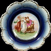 Blue Gold Victoria Carlsbad Austrian Porcelain Bowl Angelica Kaufmann Women