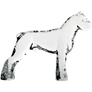Kosta Boda Zoo Figurine Boxer Dog Crystal Art Glass Scandinavian