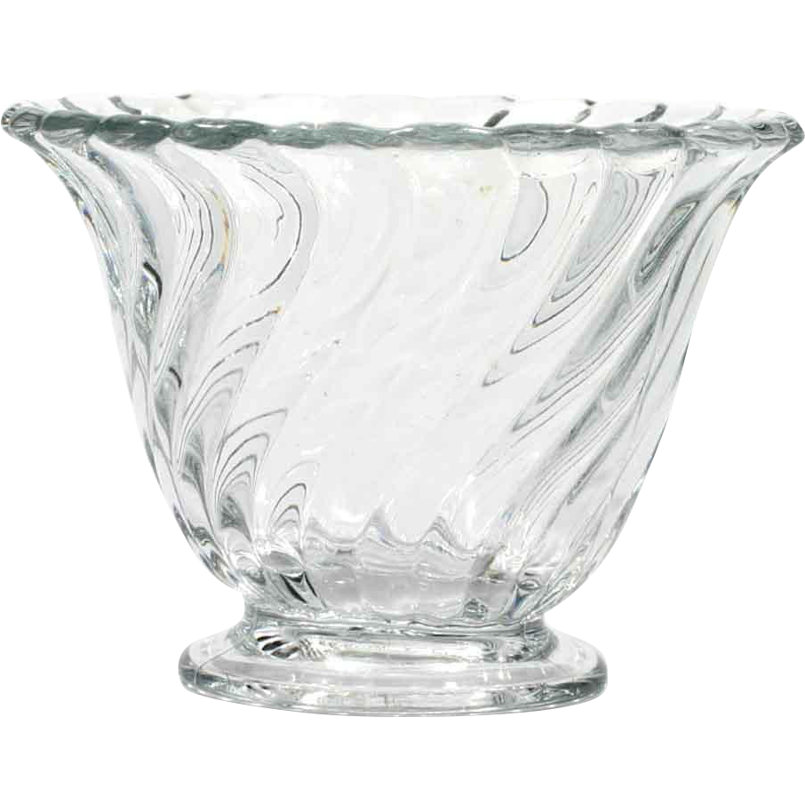 Fostoria Glass Colony Mayonnaise Bowl Vintage Swirl Elegant Glass 1940s