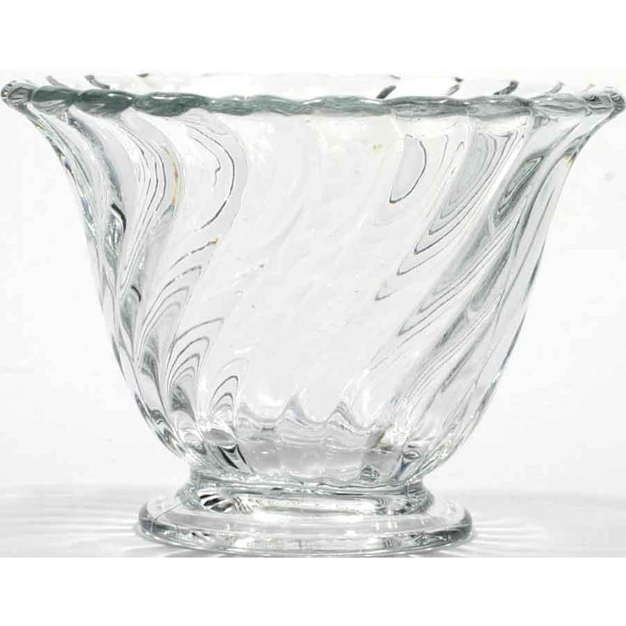 Fostoria Glass Colony Mayonnaise Bowl Vintage Swirl Elegant Glass 1940s