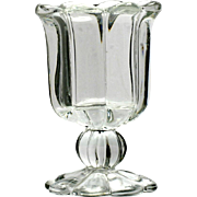 Heisey Crystolite Glass Toothpick Holder Vintage Elegant Glass