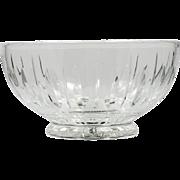 Stuart Cut Crystal Bowl Hampshire English Glass Vertical Cut Pattern Vintage