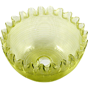 Boston and Sandwich Glass Threaded Bowl Antique 1880s