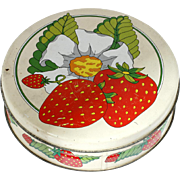Strawberry Shortcake Vintage Decorative Tin Valleybrook Farms
