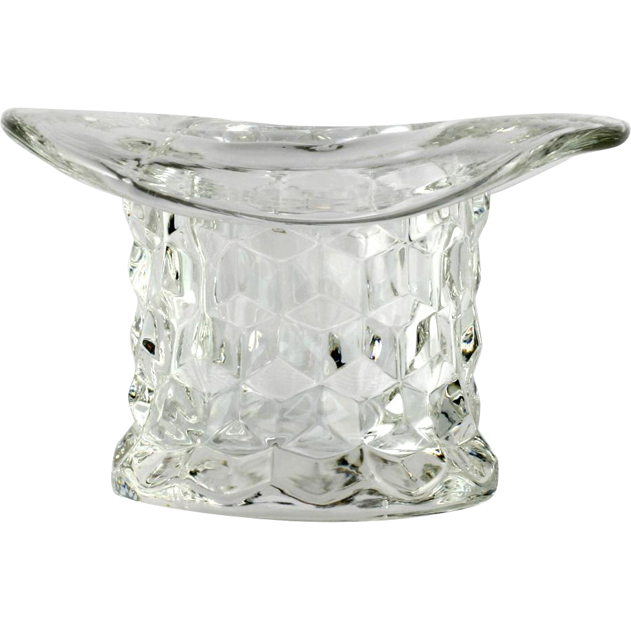 Fostoria American Elegant Glass Top Hat Toothpick Holder Vintage Crystal