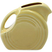 Yellow Fiesta Ware Mini Disk Pitcher Homer Laughlin American Pottery