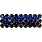 1930s Blue Rhinestone Layered Brooch Pre WWII European