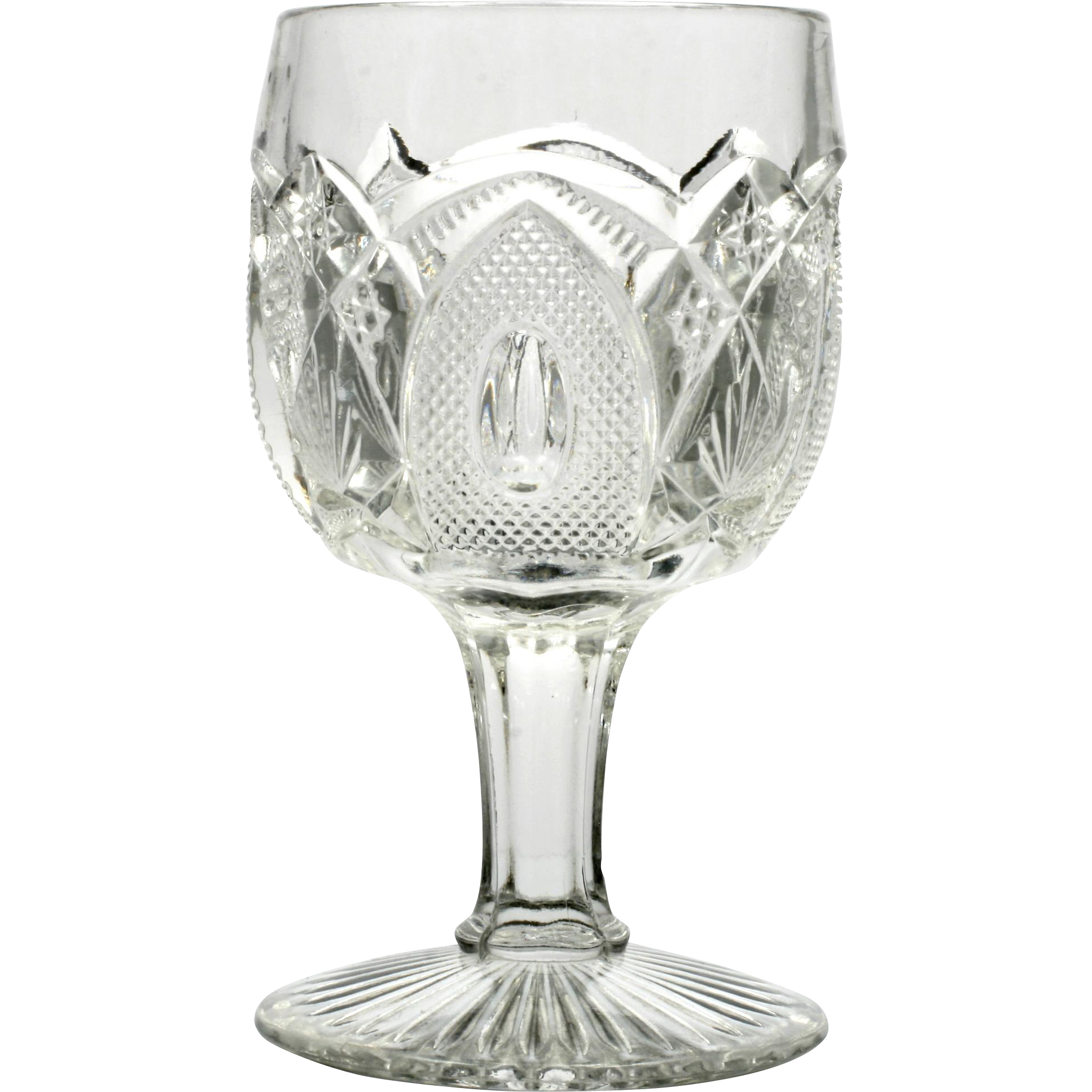 EAPG New Hampshire Goblet US Glass Antique Pressed Glass Water 1903