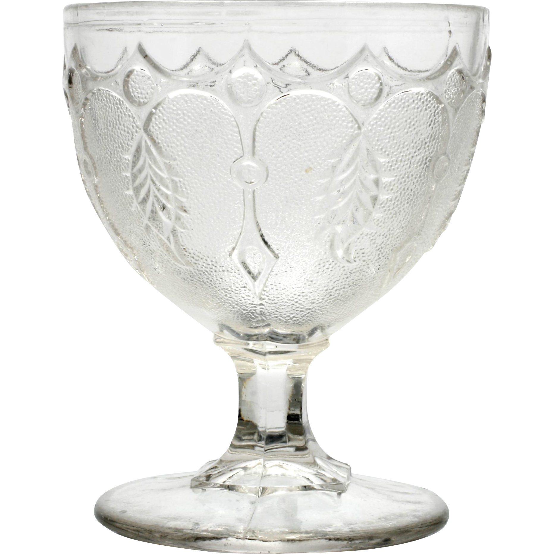 EAPG Leaf and Dart Sugar Bowl Richards and Hartley Buttermilk Goblet
