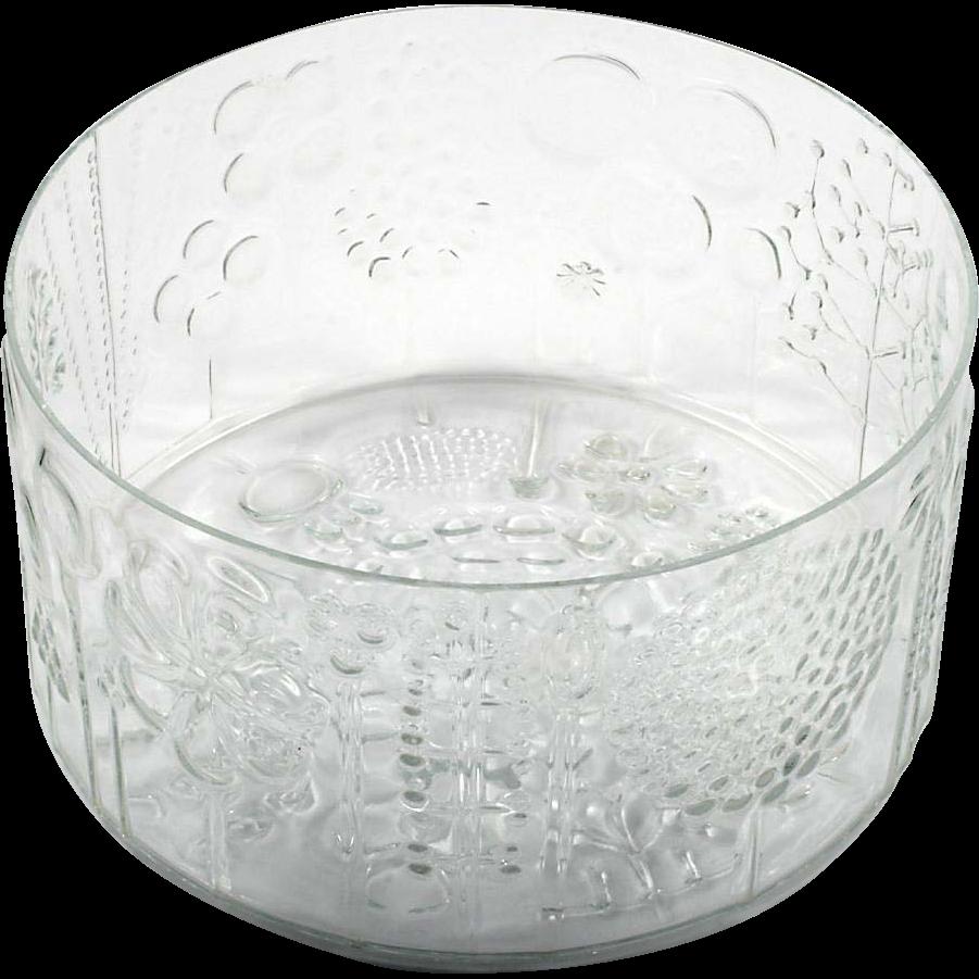 iittala flora art glass bowl scandinavian crystal vintage. Black Bedroom Furniture Sets. Home Design Ideas