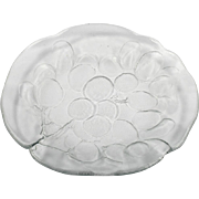 Kosta Boda Grapes Plate Art Glass Scandinavian Mark Ann Warff Cargo Ship Mark