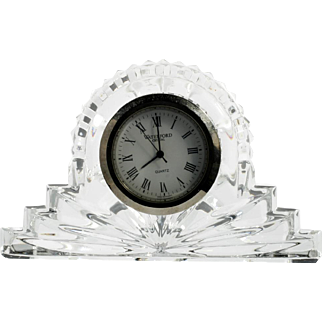 Waterford Crystal Cottage Mantle Clock Irish Hand Cut Glass Original Label