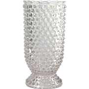EAPG Double Eye Hobnail Celery Vase Antique Pressed Glass 1880s Columbia Glass Co