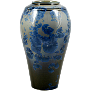 Blue Crystalline Art Pottery Vase Doug Kaigler Large Flower Vase Home Decor
