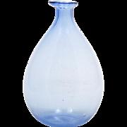 Blue Art Glass Balloon Vase Delicate Home Decor