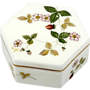 Wedgwood Wild Strawberry Bone China Trinket Box English Pottery
