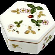 Wedgwood Wild Strawberry Bone China Trinket Box English Pottery