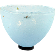 Kosta Boda Blue Glass Bowl B Vallien Art Collection 59608 Swedish