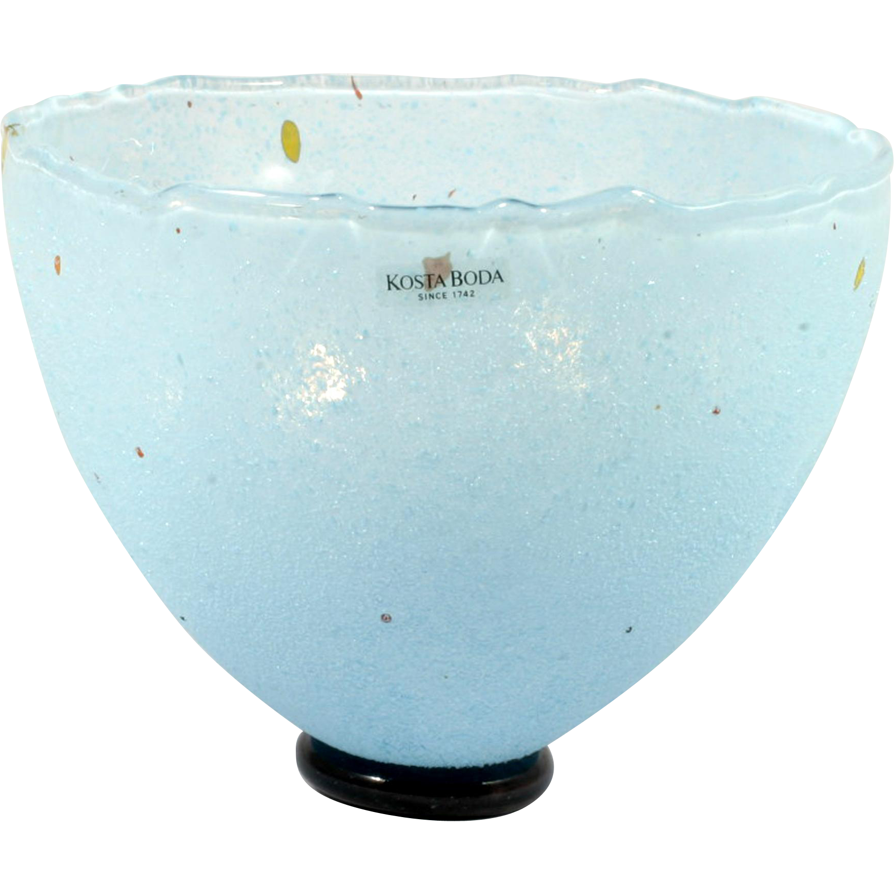 Kosta Boda Blue Glass Bowl B Vallien Art Collection 59608 Swedish
